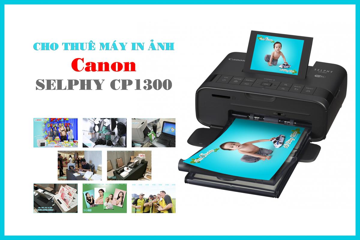 Cho thuê máy in ảnh mini Canon Selphy CP1300 giá rẻ